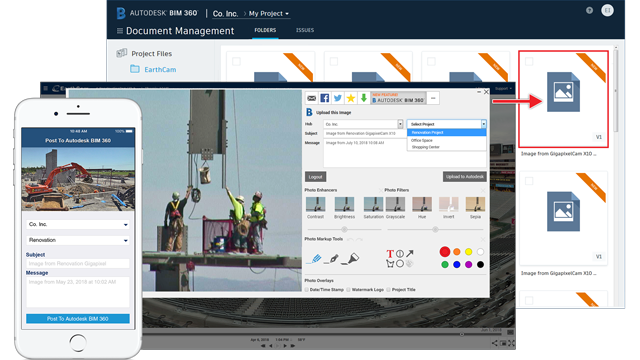 Empowering Users with Jobsite Imagery and Environmental Data