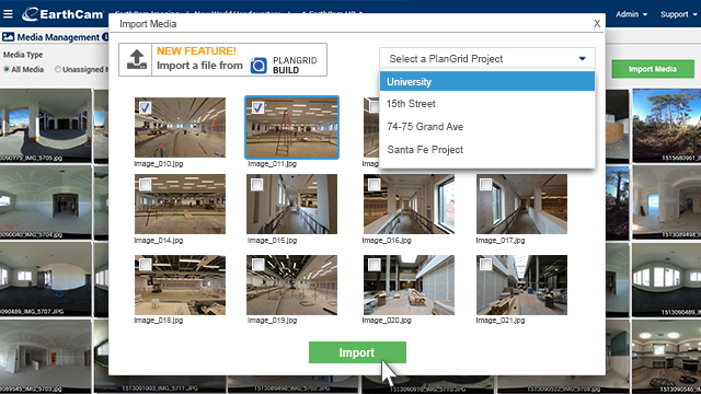 "<span style=""color:#760000;"">New Feature!</span> Send Images from PlanGrid to EarthCam"